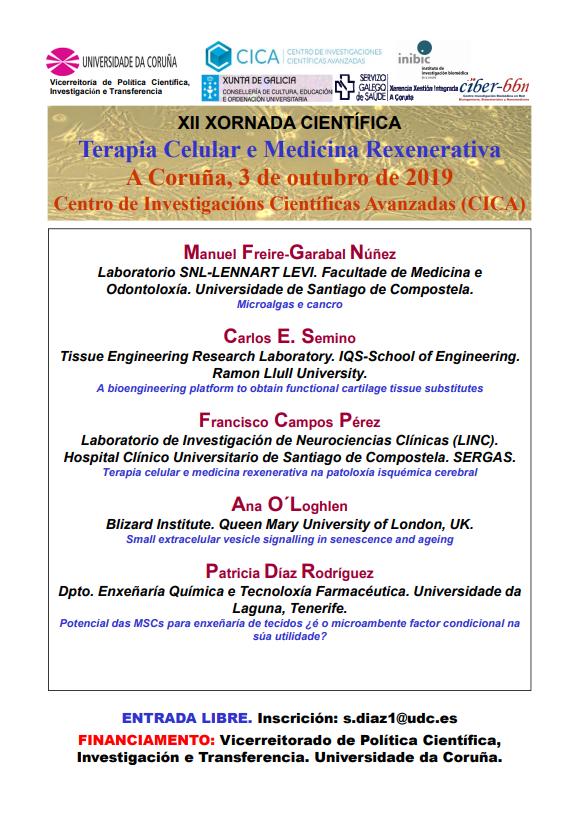 Cartel Jornada Terapia Celular